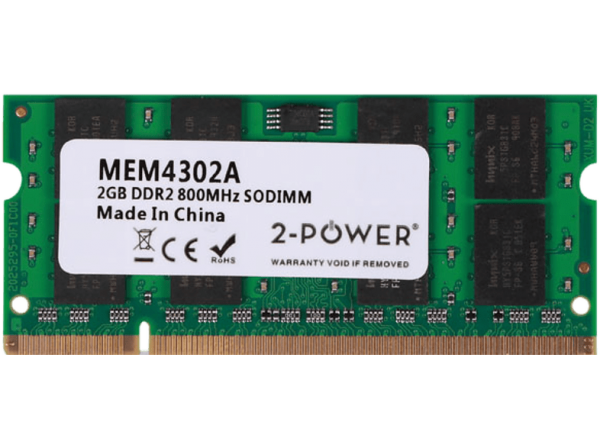 2-POWER Μνήμη RAM DDR2 SoDimm 2GB 800MHz