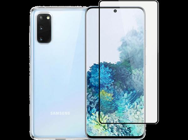2SKINZ 3D Curved Tempered Glass Black Edge μαζί με TPU θήκη Transparent για Samsung Galaxy S20