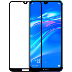 2SKINZ Full Face Tempered Glass Huawei Y7 2019 Black