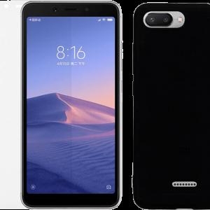 2SKINZ Set Case Matte Black μαζί με Tempered Glass Xiaomi Redmi 6A