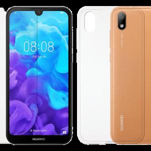 2SKINZ Set TPU Transparent μαζί με Tempered Glass Huawei Y5 2019