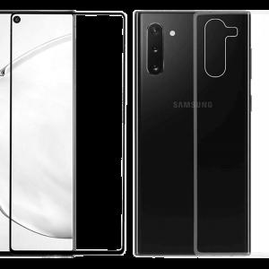 2SKINZ Set TPU Transparent μαζί με Tempered Glass Samsung Galaxy Note 10