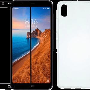 2SKINZ Set TPU Transparent μαζί με Tempered Glass Xiaomi Redmi 7A