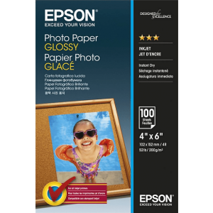 EPSON 4 x 6 Photo Paper Glossy 100 Φύλλα (200gsm) – (C13S042548)