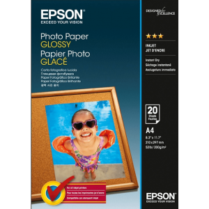 EPSON A4 Photo Paper Glossy – 20 Φύλλα (200gsm) – (C13S042538)
