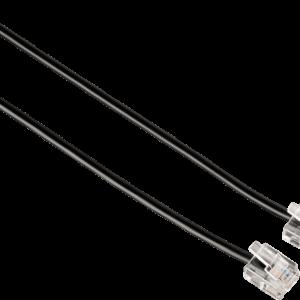 HAMA Modular Cable, 6p4c plug – 6p4c plug, 10 m, black – (00044931)