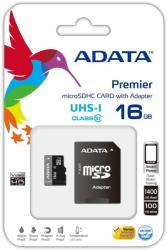ADATA PREMIER 16GB MICRO SDHC UHS-I CLASS 10 WITH ADAPTER