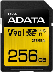 ADATA PREMIER ONE SDXC 256GB UHS-II U3 CLASS 10 COLOR BOX