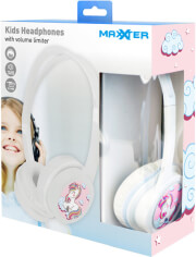 `MAXXTER ACT-MHP-JR KIDS HEADPHONES WITH VOLUME LIMITER WHITE