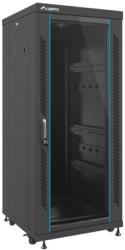 "LANBERG FREE-STANDING RACK 19"" 27U/600X600MM DEMOUNTED FLAT PACK BLACK WITH GLASS DOOR"