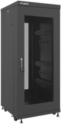 "LANBERG FREE-STANDING RACK 19"" 27U/600X600MM DEMOUNTED FLAT PACK BLACK WITH PERFORATED DOOR"