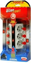 ACAR SURGE PROTECTOR SMART 6 SOCKETS 3M WHITE ΜΕ ΔΙΑΚΟΠΤΗ