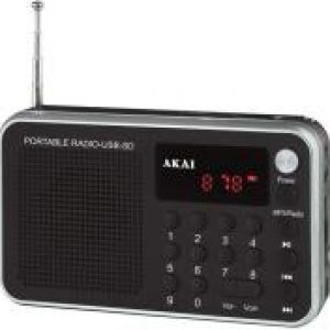 AKAI DR002A-521 USB PORTABLE RADIO BLACK