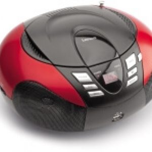LENCO SCD-37 USB PORTABLE FM RADIO WITH CD PLAYER AND USB RED