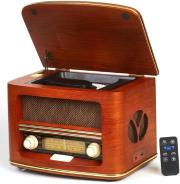CAMRY CR1109 RETRO RADIO LW/FM WITH CD/MP3 PLAYER BROWN