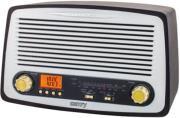 CAMRY CR1126 RETRO RADIO FM/AM WITH MP3 PLAYER USB/SD BLACK