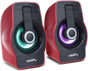 AUDIOCORE AC855R COMPUTER SPEAKERS 2.0 6W USB RED