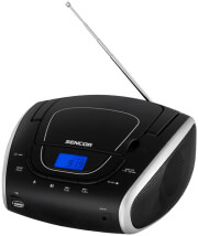 SENCOR SPT 1600 BS PORTABLE CD PLAYER WITH MP3 USB AND FM RADIO