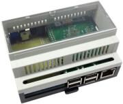 "MODMYPI MMP-0198 RASPIBOX ""OPEN"" PLUS PROTOTYPING DIN RAIL RASPBERRY PI 2/3 CASE"