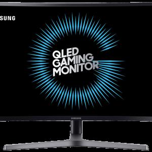 "SAMSUNG LC27HG70 27"" QLED Gaming Curved Monitor, Quad HD HDR, Metal Quantum Dot, Wide-view VA Panel, AMD FreeSync™ 2"