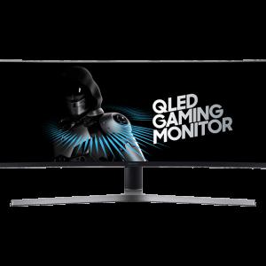 "SAMSUNG LC49HG90 49"" 32:9 Curved 1800R Gaming Monitor, Dual Full HD, Quantum Dot, HDR, QLED, 144Hz, AMD FreeSync™ 2"