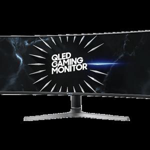 "SAMSUNG LC49RG90 49"" 32:9 Curved 1800R Gaming Monitor, Dual Quad HD, Quantum Dot, HDR, QLED, 120Hz, AMD FreeSync™ 2"