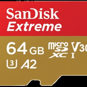 SAN DISK SANDISK 64GB MICRO SD EXTREME 90 MB/sec