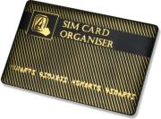 4SMARTS SIM CARD ORGANISER WITH ADAPTERS BLACK GOLD