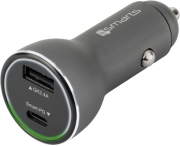 14SMARTS FAST CAR CHARGER VOLTROAD IPD WITH QUICK CHARGE 3.0 AND POWER DELIVERY