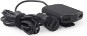 GEMBIRD EG-4U-CAR-01 4-PORT FRONT AND BACK SEAT CAR CHARGER 9.6A BLACK