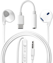 4SMARTS IN-EAR STEREO HEADSET MELODY USB TYPE-C AUDIO CABLE 1.2M WHITE