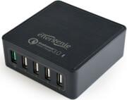 GEMBIRD EG-UQC3-02 5-PORT USB QUICK CHARGER QC 3.0 BLACK