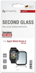 4SMARTS SECOND GLASS CURVED COLOUR FRAME FOR APPLE WATCH SERIES 4 (40MM) BLACK