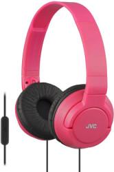 JVC HA-SR185 ON-EAR HEADPHONES WITH MICROPHONE RED