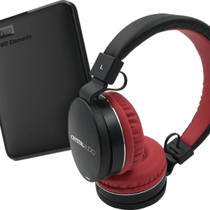 WD Elements 2TB μαζί με ακουστικά Crystal Audio H/F