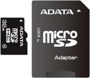 ADATA 32GB MICRO SECURE DIGITAL HIGH CAPACITY WITH ADAPTER CLASS 4