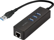 LOGILINK UA0173A USB 3.0 TO GIGABIT ETHERNET ADAPTER AND 3X USB 3.0