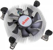 AKASA AK-CCE-7106HP LOW PROFILE CPU COOLER FOR INTEL LGA775/LGA115X 74MM PWM FAN