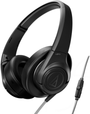 AUDIO TECHNICA ATH-AX3IS SONICFUEL OVER-EAR HEADPHONES FOR SMARTPHONES BLACK