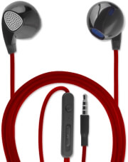 4SMARTS IN-EAR STEREO HEADSET MELODY 3.5MM AUDIO CABLE 1.2M BLACK/RED