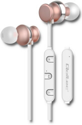 QOLTEC 50823 PREMIUM IN-EAR HEADPHONES WIRELESS BT WITH MICROPHONE CHAMPAGNE