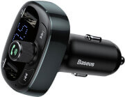 BASEUS TRANSMITTER FM T-TYPE BLUETOOTH MP3 CAR CHARGER BLACK