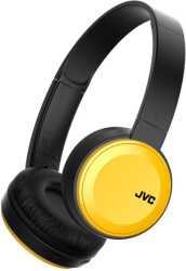 JVC HA-S30BT WIRELESS BLUETOOTH HEADPHONES WITH BUILT-IN MICROPHONE YELLOW