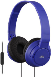 JVC HA-SR185 ON-EAR HEADPHONES WITH MICROPHONE BLUE