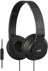 JVC HA-SR185 ON-EAR HEADPHONES WITH MICROPHONE BLACK