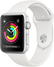 APPLE WATCH 3 GPS MTF22 42MM SILVER ALUMINUM CASE WITH WHITE SPORT BAND