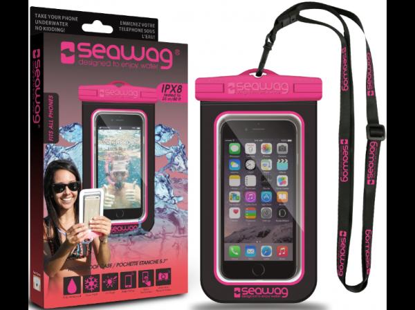 SEAWAG Β3Χ Waterproof Case For Smartphone Black & Pink