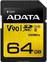 ADATA PREMIER ONE SDXC 64GB UHS-II U3 CLASS 10 COLOR BOX