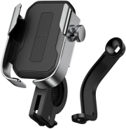 BASEUS ARMOR MOTORCYCLE & BICYCLE HOLDER SILVER