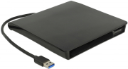 """DELOCK 42602 EXTERNAL ENCLOSURE FOR 5.25"""" SLIM SATA DRIVES 12.7 MM TO USB TYPE-A MALE"""